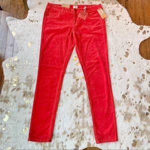 Red Corduroy Stretchy Skinny Jeans ❤️
